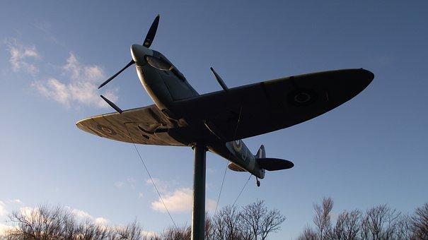 Spitfire, Aircraft, Memorial, Airplane, Aviation