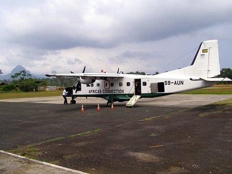 Sao Tome, Africa, Airplane, Airport, Runway, Travel