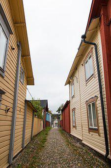 Porvoo, Alley, Street, House, Old Town, Finnish