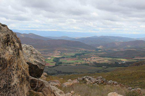 South Africa, Black Mountain Pass, View, Mountains