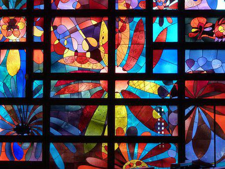 Church Window, Stained Glass, Church Algund, Window