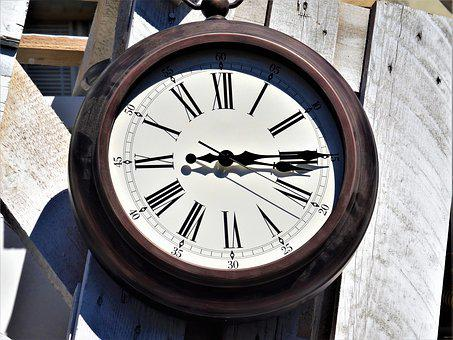 Clock, Time Indicating, Clock Face, Antique, Pointer