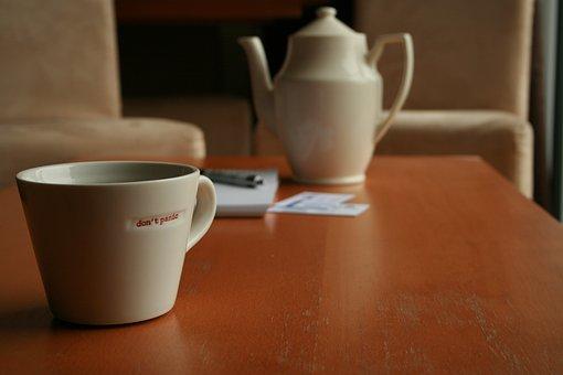 Coffee Time, Coffee Pot, Mug, Cup, Don't Panic