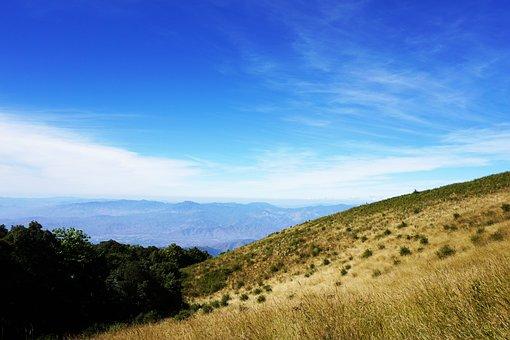 Mountains, Doi Inthanon, Thailand, Sky, Nature