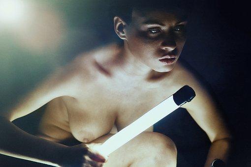 Erotica, Girl, Night, Zombie, Breast, Model, Portrait