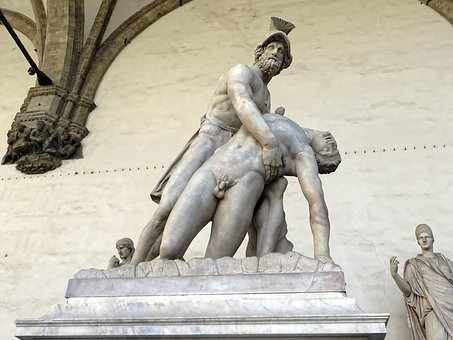 Italy, Florence, Palazzo Vecchio, Logia Dei Lanzi