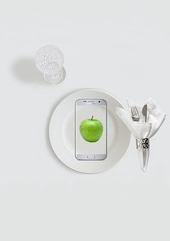 Diet, Good Intent, Cutlery, Apple, Knife, Fork, Cover