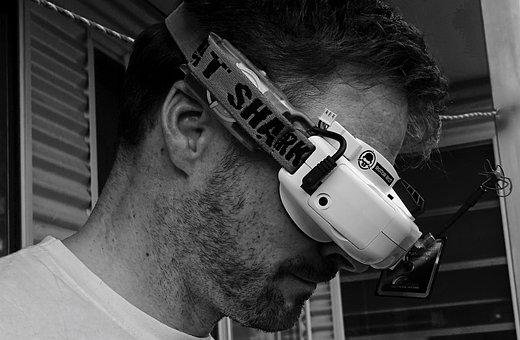 Headset, Fpv, Goggles, Flight, Drone, Virtual, Reality