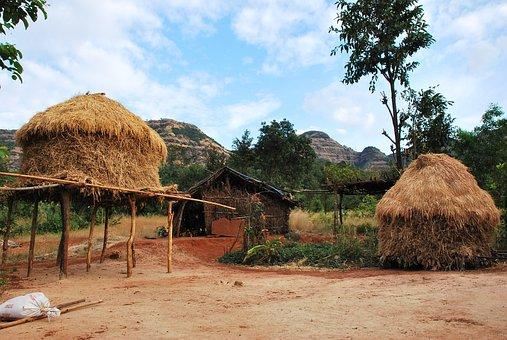 Hut, Lifestyle, Tribal, Rural, Landscape, House, Poor