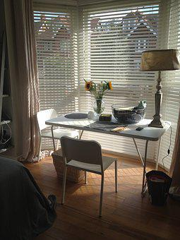 Table, Desk, Interior