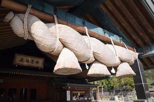 Tie, Knot, Temple, Rope, United, Izumo-taisha