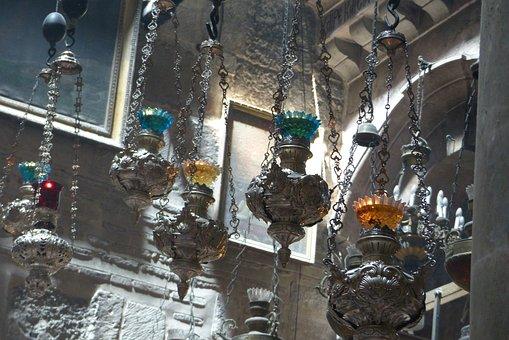 Lamps, Holy Sepulchre Church, Jerusalem