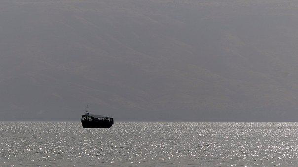 Lake Tiberias, Dawn, Boat