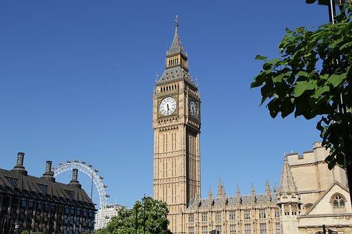 Big Ben, Clock, England, London, Ben, Big, Tower