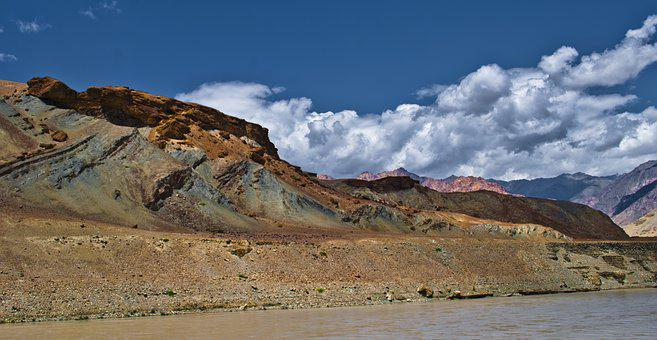 Landscape, Mountain, Sky, Clouds, Nature, Ladakh, India