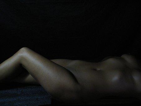 Lying Down, Girl, Sensual, Brown Skin, Naked Woman
