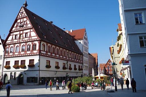 Nördlingen, Old Town, Truss, Bavaria