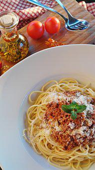 Spaghetti, Noodles, Bolognese, Meat Sauce, Minced Meat