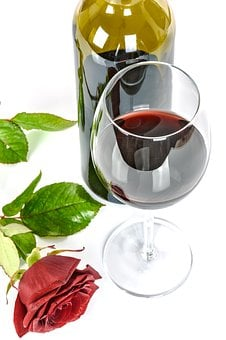 Glass Of Wine, Rose, Wine, Glass, Alcohol, Red, Drink