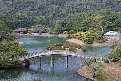 Ritsurin Garden, Shikoku, Garden, Takamatsu, Lake