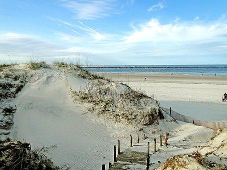 Dunes, Beach, Sand, Seaside, Coast, Pile, Ocean, Shore