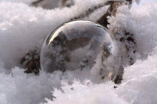 Embedded Seifenblase, Embedded, Snow, Frost, Frozen