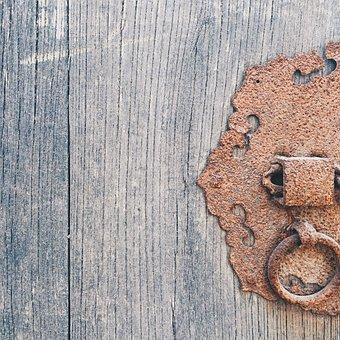 The Years, Wood, Lock, Rust, Door, Iron, Old, Klunky