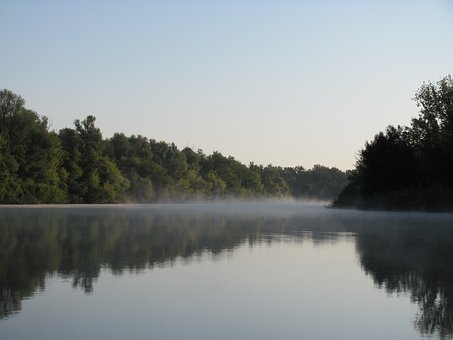 Fog, Dawn, Tranquility, Landscape, Nature, Water