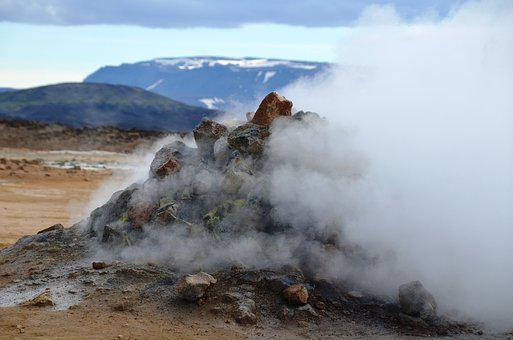 Steam, Source, Iceland, Volcanic, Hot Source