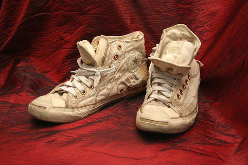 Sneakers, Hand Made, Converce, White, Fashion, Design