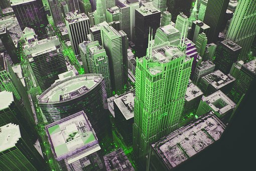 Metropolis, Architecture, Green, Building, Home, Glass