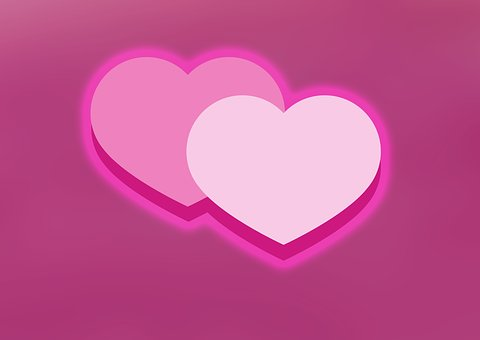 Love, Heart, Double Heart, Valentine's Day, Background