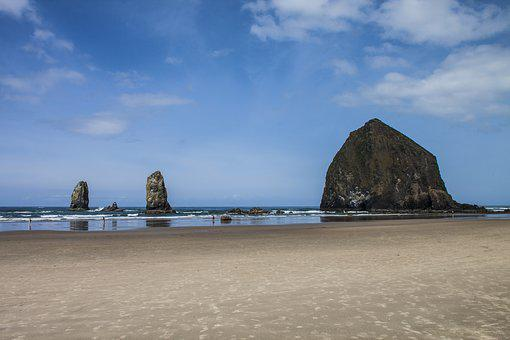 Haystack Rock, Oregon, Cannon Beach, Tidepools, Beach