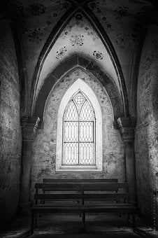 Black And White, Church, Architecture, Black White