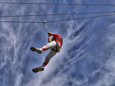 High Wire, Conkers Theme Park, Brave Girl
