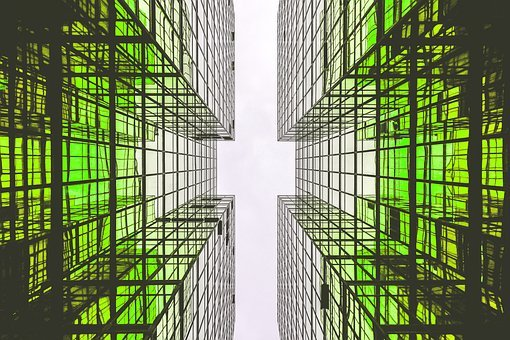 Architecture, Green, Building, Home, Glass, Tower, City