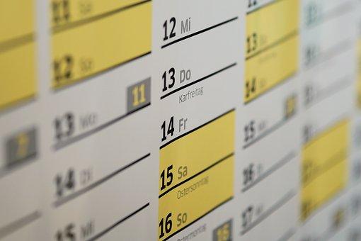 Calendar, Wall Calendar, Easter, Good Friday, Time