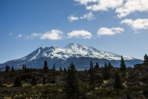 Mt Shasta, California, Northern, Mountain, Landscape