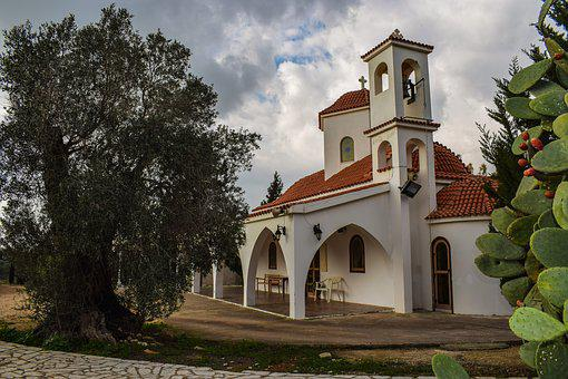 Church, Scenery, Countryside, Cyprus, Architecture