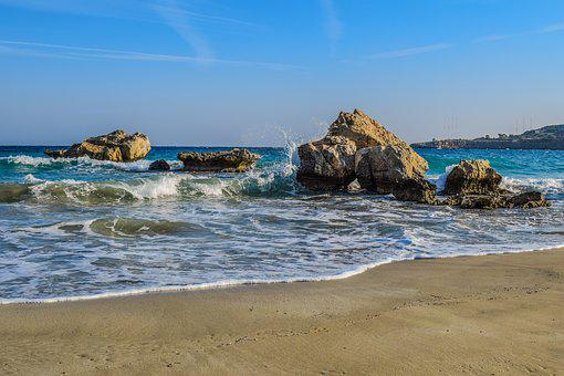 Cove, Sea, Waves, Scenery, Rocks, Beach, Shore, Scenic