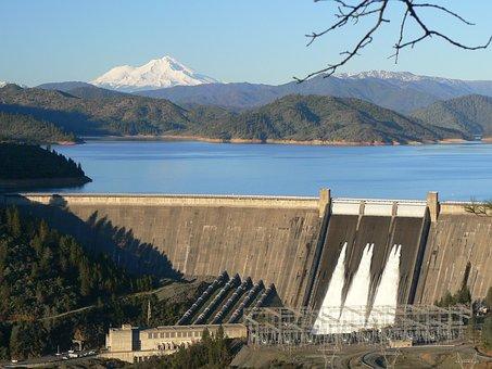 Dam, Reservoir, Lake, Shasta Dam, Shasta Lake