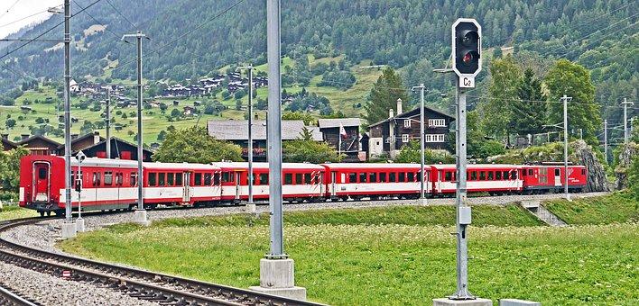 Switzerland, Valais, Fiesch, Rhone Valley