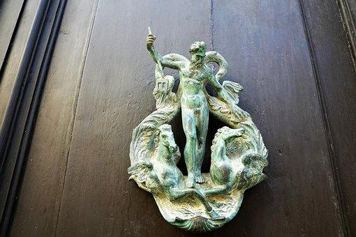 Door, Jack, Figure, Input, Neptune, Wood, Malta, Island