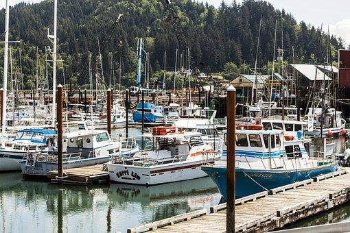 Garibaldi, Harbor, Fishing, Boats, Tillamook, Bay