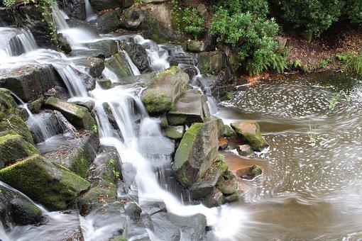 Waterfall, Rocks, Stone, Flow, Nature, Water, Landscape