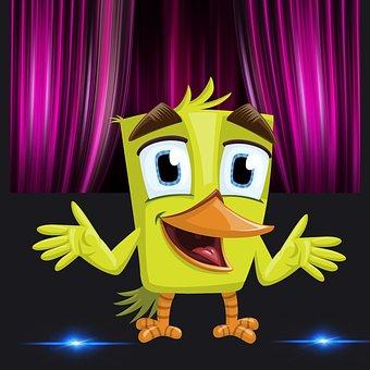 Funny Chick, Chick, Funny Bird, Speech, Talk