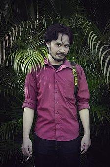 Java Man, Indonesian, Natural Green, Palm, Guy, Bierde