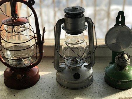 Lamp, Kerosene Lamps, Lighting, Vintage, Old Things