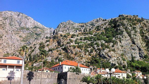 Structures, Clock, Old, Landscape, Montenegro, Sunset