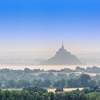 Mont Saint Michel, Landscape, Nature, Tourism, France